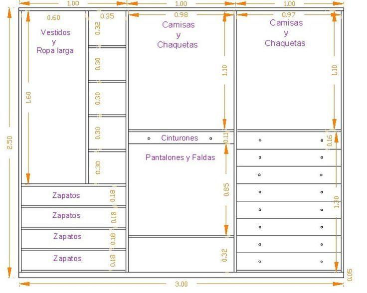 Distribucion armario armario empotrado y vestidor - Distribuir armario empotrado ...