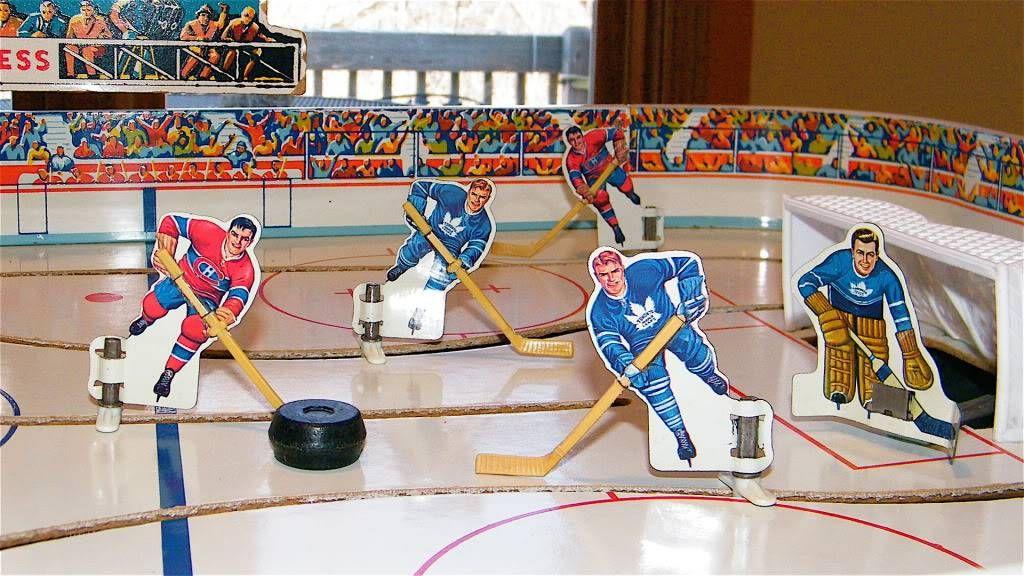 Eagle Toys Nhl Stanley Cup Tin Metal Table Top Rod Hockey Game Hockey Games Maple Leafs Hockey Hockey
