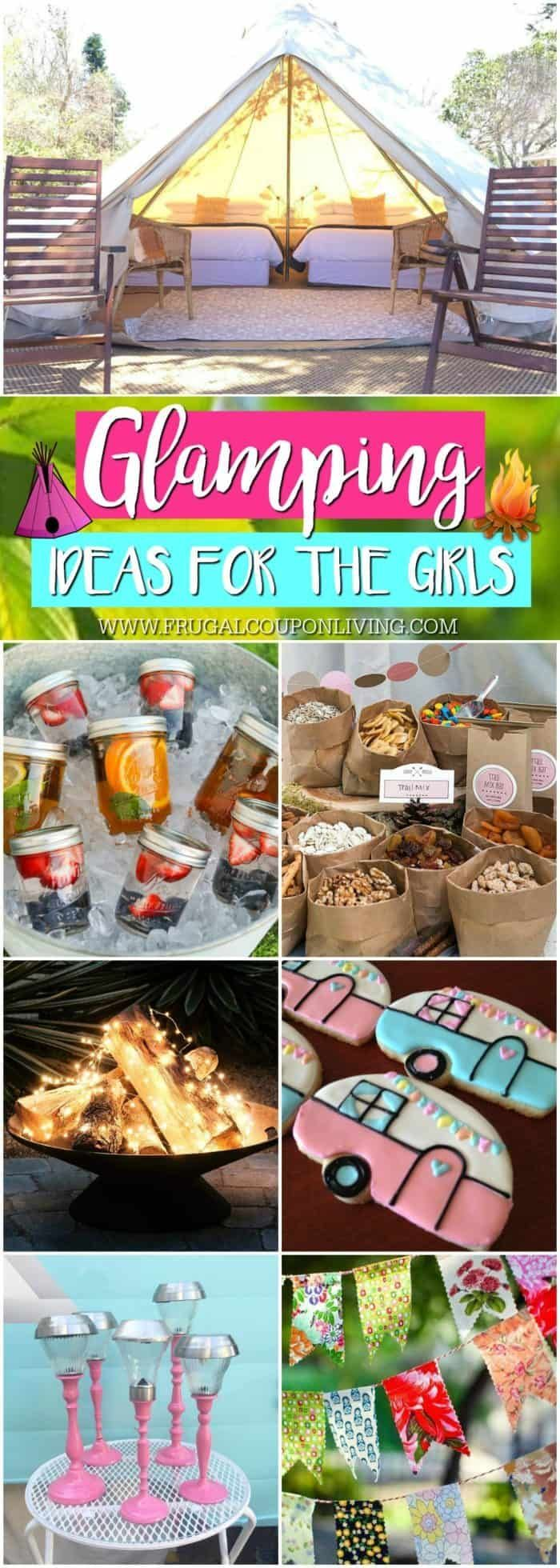 Glamping ideas for the girls! Glamping ideas for the ultimate camping tr …