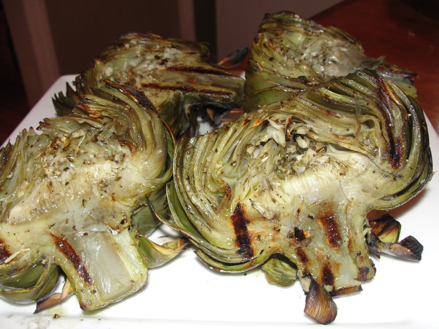 Grilled artichoke recipe dinner side tonight for d to for Swai fish recipes food network