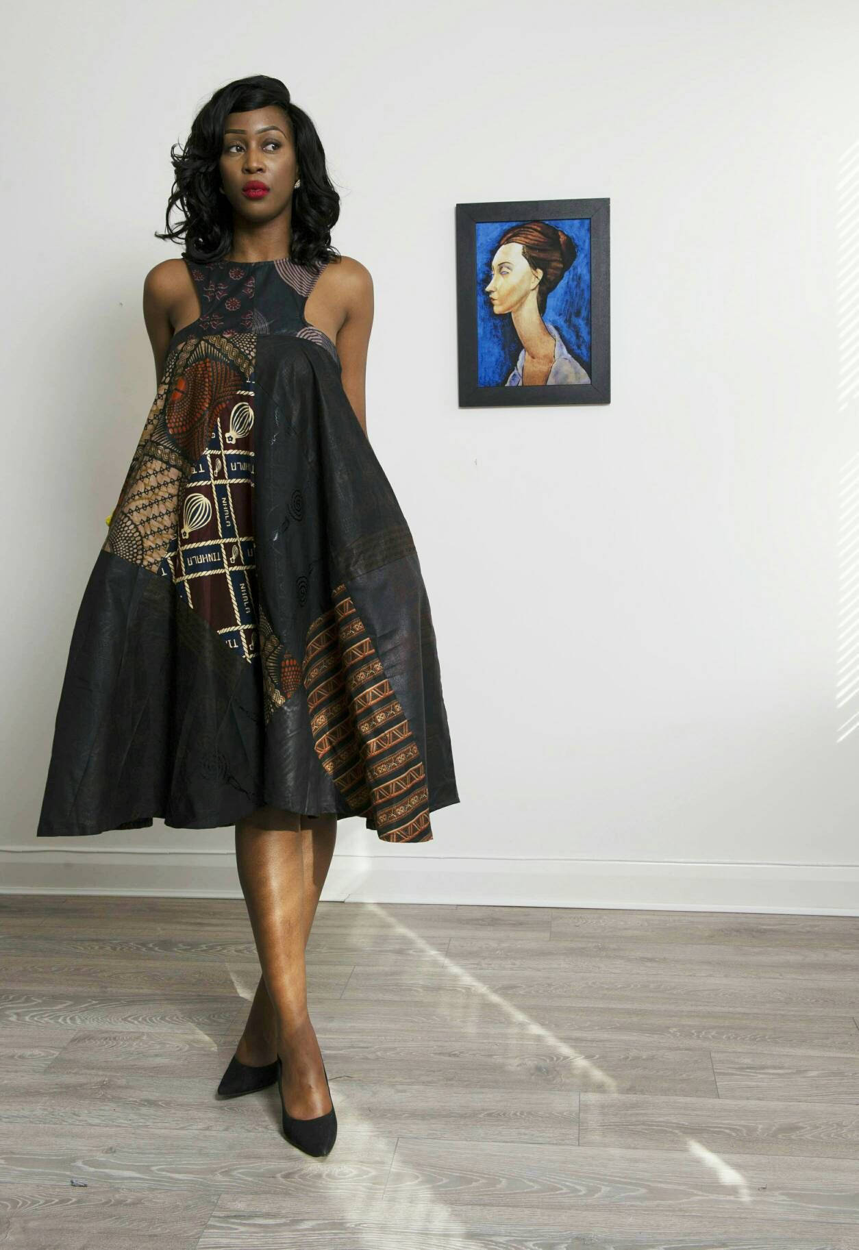 9412a59a0c7 Sosome women Ankara dress pattern available black mix option african mixed  prints. Easy to wear and perfect for any occasion beautifully constructed  womens ...