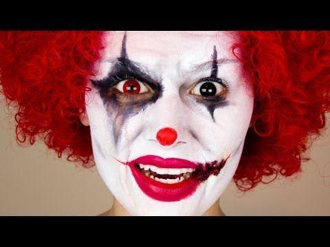 scary clown  halloween makeup  youtube  cool halloween