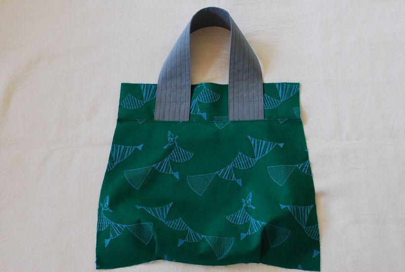 ファスナー付き たためるサブバッグの作り方 バッグの作り方 サブ