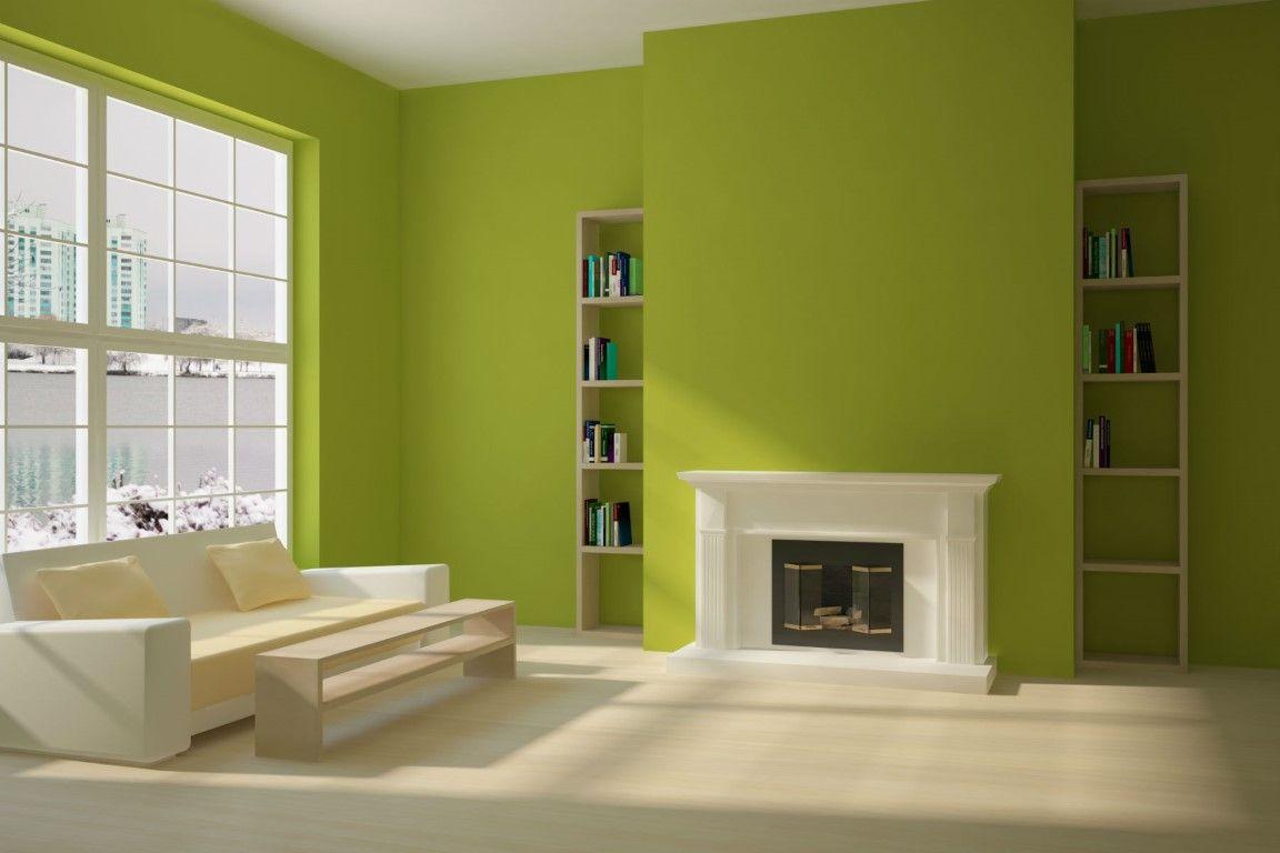 Interior paredes de color amarillo verde buscar con - Pintura interior colores ...