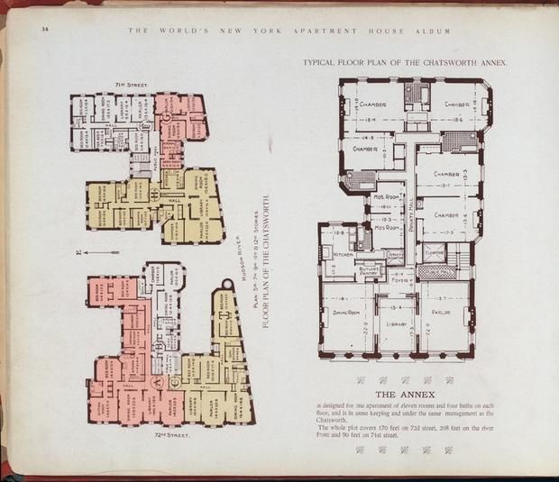 Elaborate Floor Plans From Pre Wwi Nyc Apartments Apartments