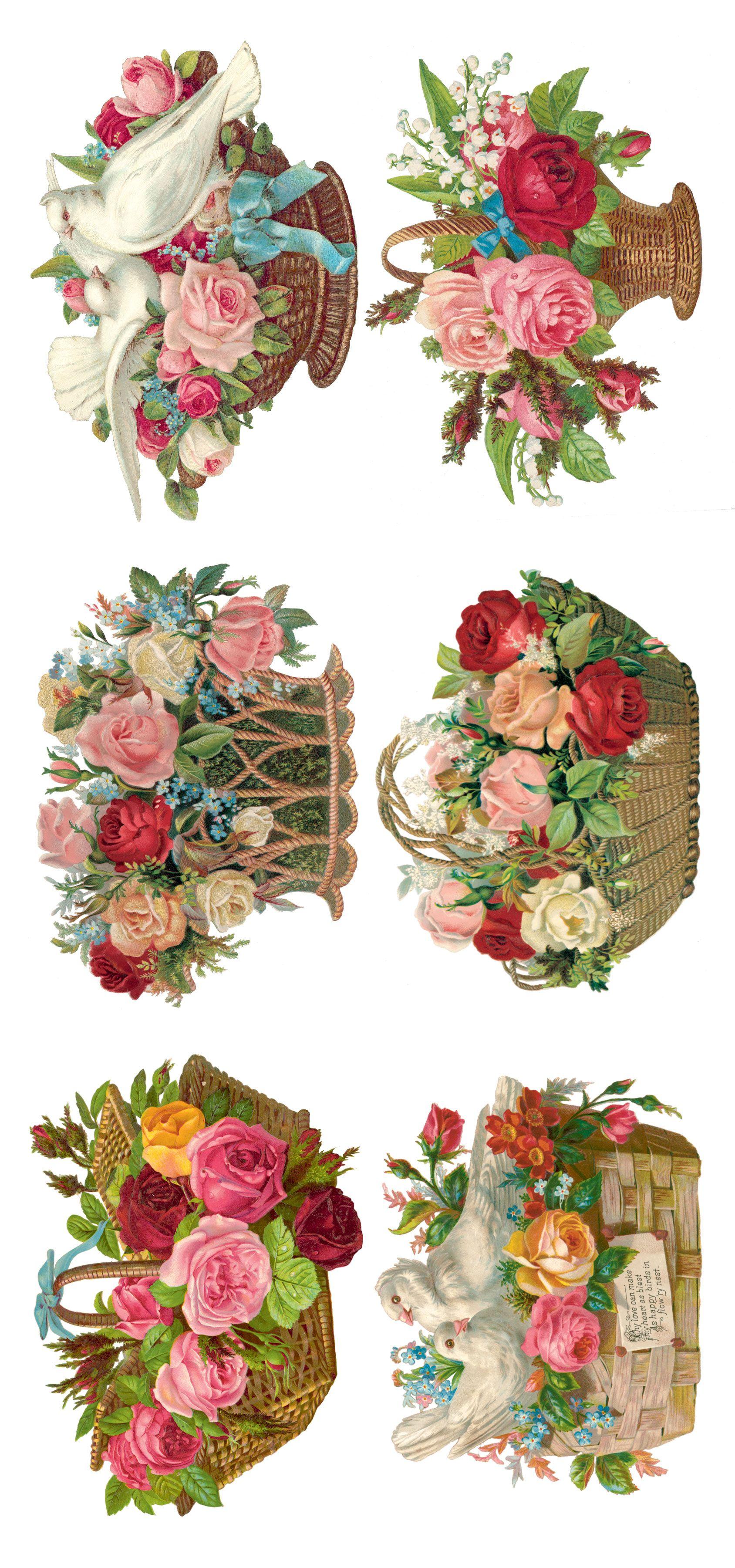 canasta rosas