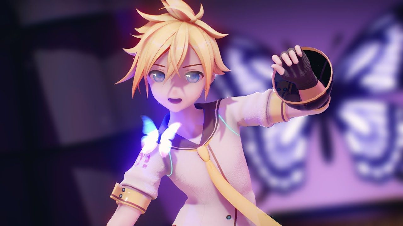 【MMD】Butterfly on Your Right Shoulder / 右肩の蝶 by Nori-P【YYB Len Kagamine/鏡音レン 10th Anniversary】