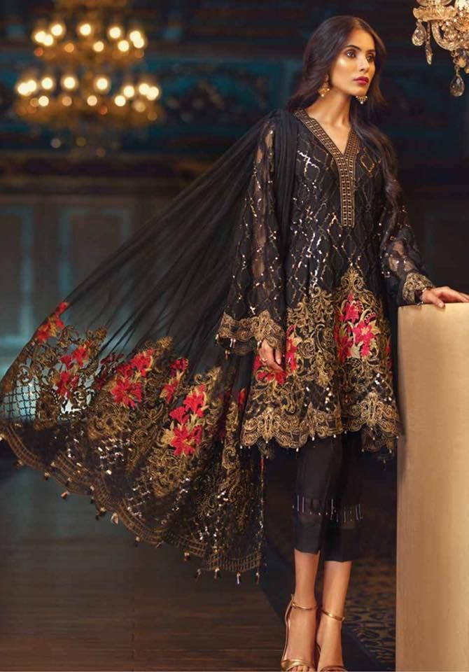 9be153c754 Jazmin - Chiffon - Elam - 01 Latest Pakistani Fashion, Pakistani Outfits,  Indian Outfits