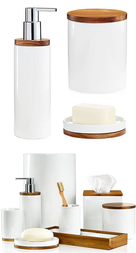 Hotel Collection Century Bath Accessories Collection  Only at Macy s   Bathroom  Accessories   Bed   Bath   Macy s Bridal and Wedding RegistryI love this collection  it makes my bathroom feel crisp and clean  . Masters Hardware Bathroom Accessories. Home Design Ideas