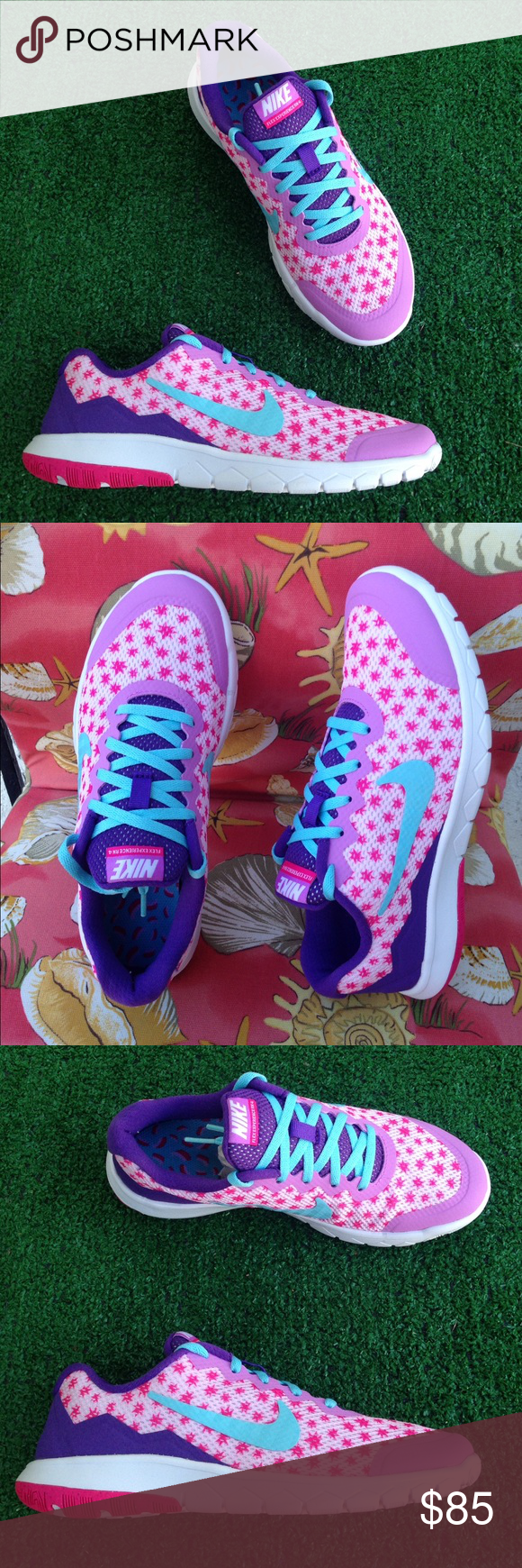 Women's Nike flex experience 4 print sneakers •Brand new •Authentic •Box not included ***CHEAPER THROUGH ♏️*****///Size 5Y or 6.5 or 23cm/// Size 5.5Y or 7 or 24cm/// Size 6Y or 7.5 or 24.5cm Nike Shoes Athletic Shoes