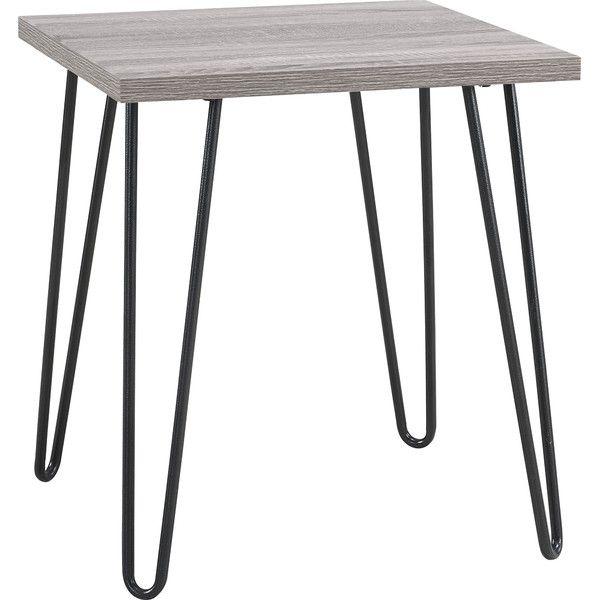 Altra Furniture Owen Retro End Table With Sonoma Oak Finish And Gunmetal  Gray Metal Legs