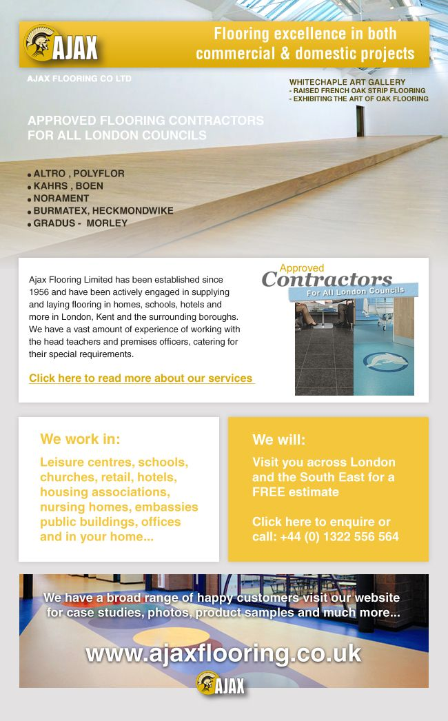 HTML Email newsletter design for Ajax Flooring by Design M (www - business newsletter