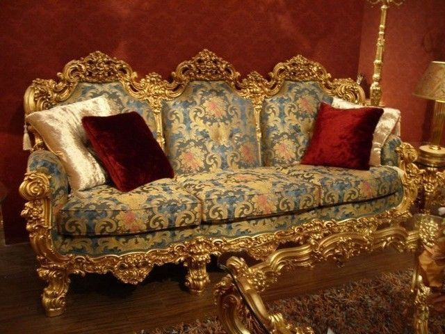 barock sofa 3er 3sitzer aus salon antik stil vp0893 ebay w pinterest. Black Bedroom Furniture Sets. Home Design Ideas
