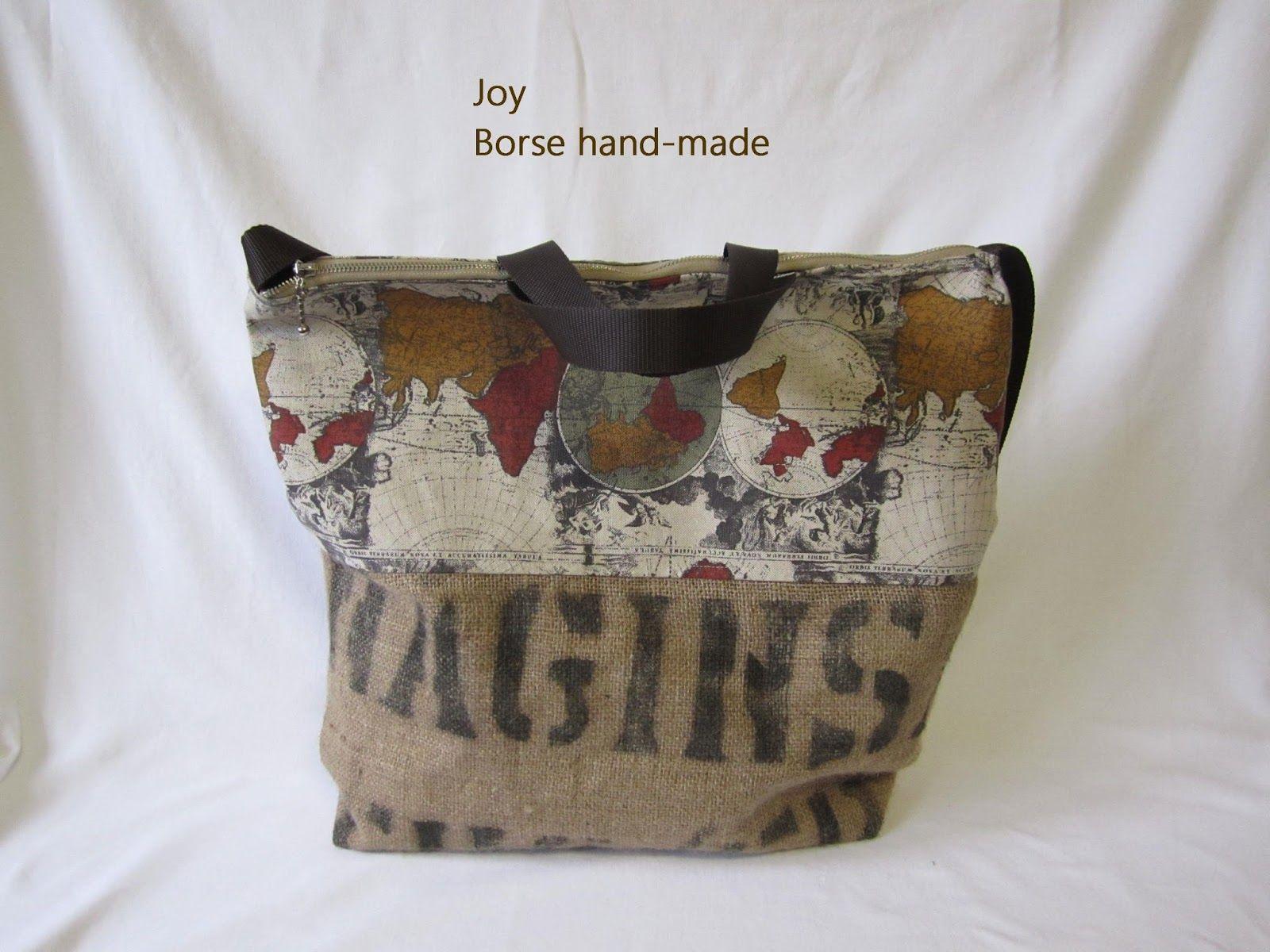 Joy Le Borse Hand made Recupero di sacco di juta n 2