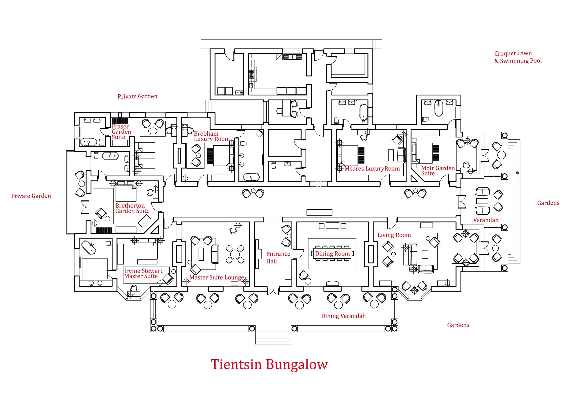 World 39 s nicest resort floor plans view all bungalow for Layout design of bungalows