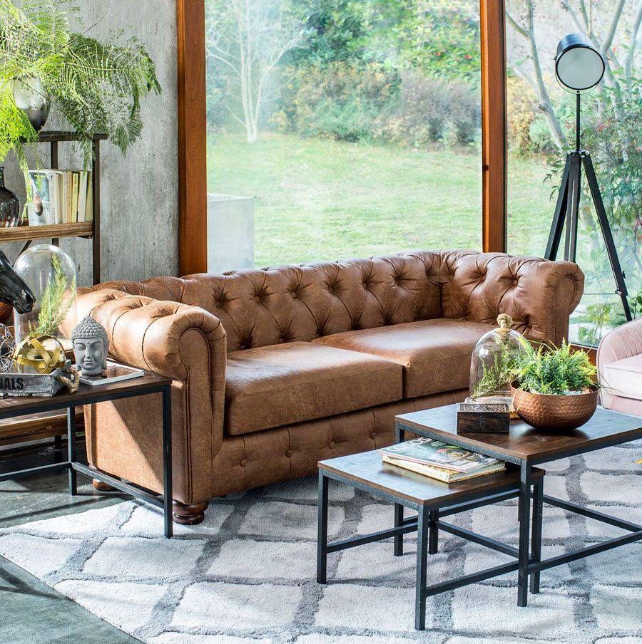 Con qué combina un sofá de cuero marrón | Blog Homy ...