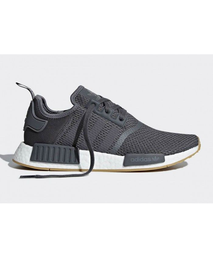 new products 2714a 51e01 Adidas NMD R1 Grey Gum Trainers