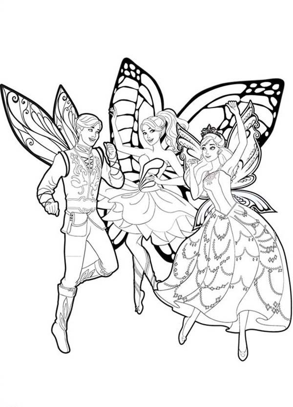 barbie mariposa barbie mariposa and her butterfly fairy friends coloring pages barbie mariposa and - Barbie Friends Coloring Pages