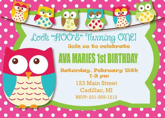Owl first birthday invitation digital file look by fabpartyprints owl first birthday invitation digital file look by fabpartyprints 1500 filmwisefo