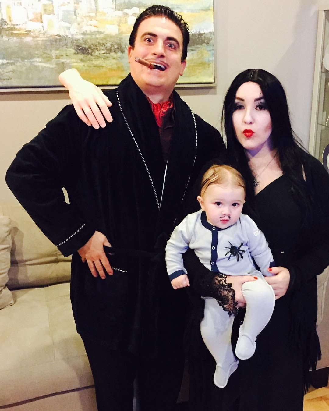 the addams family gomez morticia and pubert addams family halloween costume