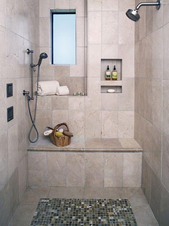 Ich werde eine Bank in meiner Dusche haben! Kleines bad