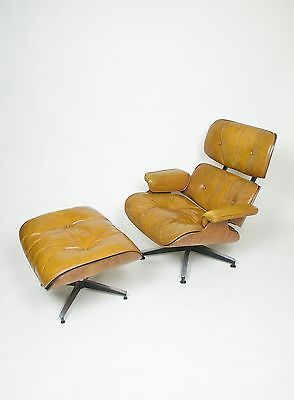 Vintage 1960 S Herman Miller Eames Lounge Chair Ottoman Rosewood