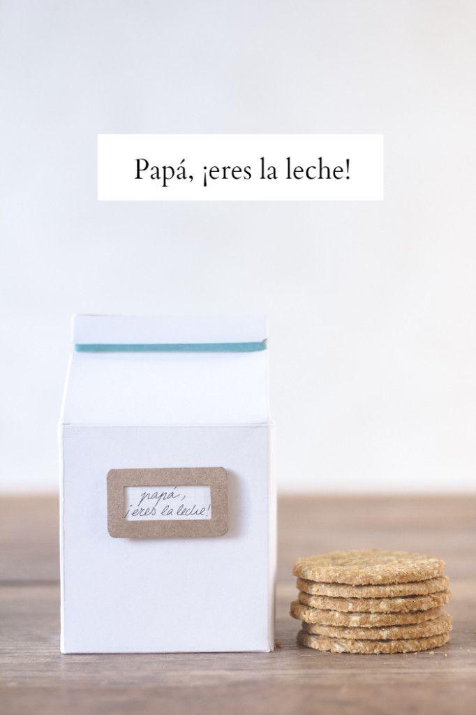 Papá, eres la leche | http://www.conbotasdeagua.com/papa-eres-la-leche/ --- Available at oddyneighbours.com