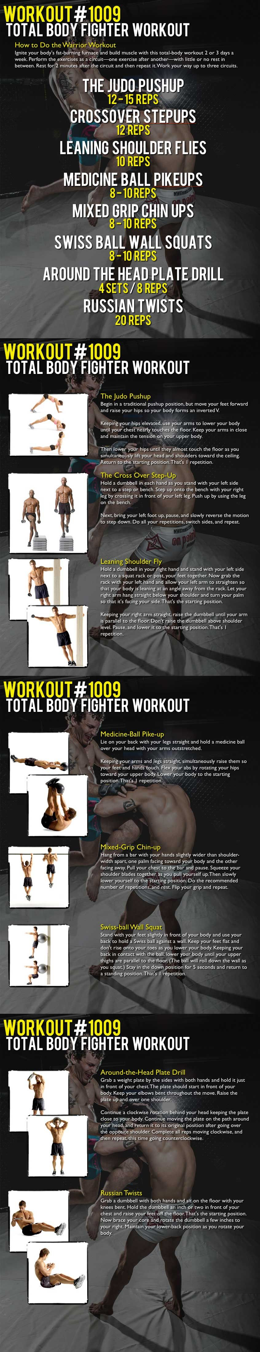 here is a workout for the MMA fighter in you. Although