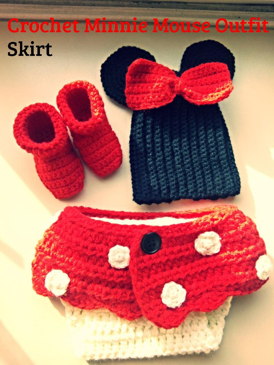 Crochet Minnie Mouse Skirt For Diaper Oh Baby Pinterest