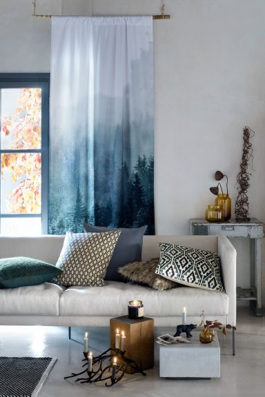 HM HOME Final Curtain Call Give Your Home An Autumn Update With Cushions And Furry Throws P Loving The Curtains Pinned By Ton Van Der Veer