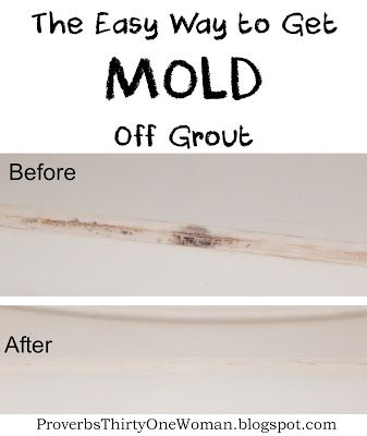 The Easy Way To Get Mold Off Grout Cleaning Hacks Mold In Bathroom Cleaning Mold