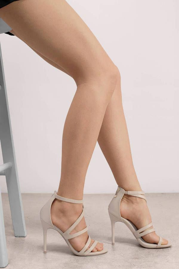 03764b48bd0 Lalli Sand Leather Strappy Heel at Tobi.com  shoptobi  Stilettoheels ...