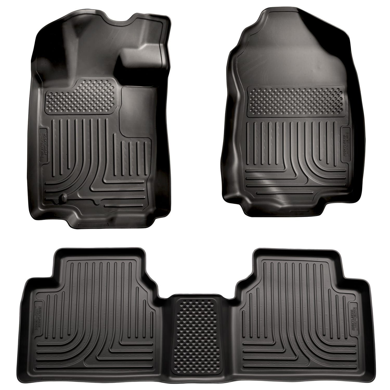 Husky Weatherbeater 2010 2017 Ford Fusion Fwd Black Front Rear Floor Mats Liners
