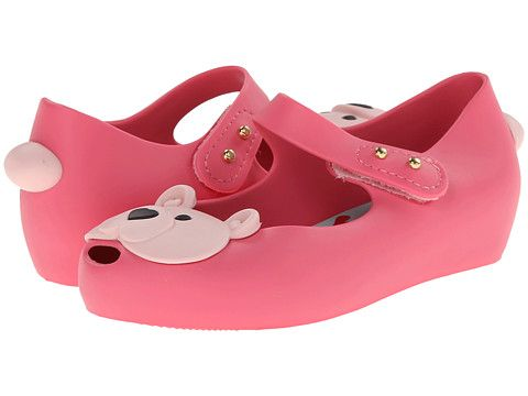 bb21060c54a8 Mini Melissa Shoes Ultragirl Light Pink Two Tone Bears (Size 9) Zappos.com  Free Shipping BOTH Ways