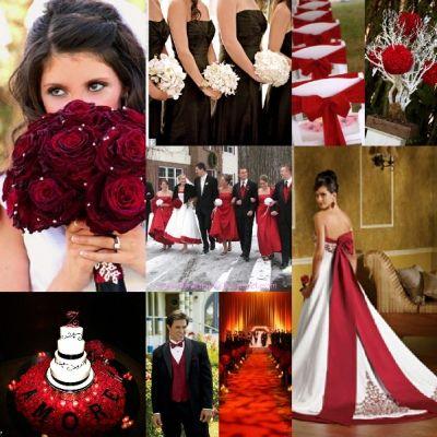 Red, White, and Black Wedding   Dream wedding   Pinterest   Wedding ...
