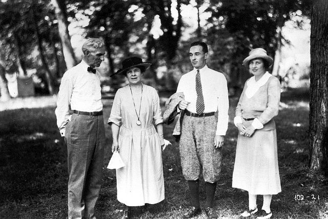 Henry And Clara Ford And Edsel And Eleanor Ford 1921 Edsel