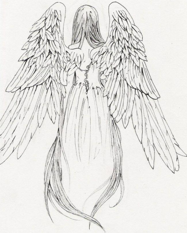 Tattoo Design Madchen Engel Mit Flugeln Vorlage Engel Zeichnung Engel Tattoo Engel Zeichnen