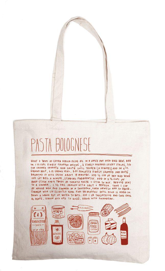 Adorable recipe bag