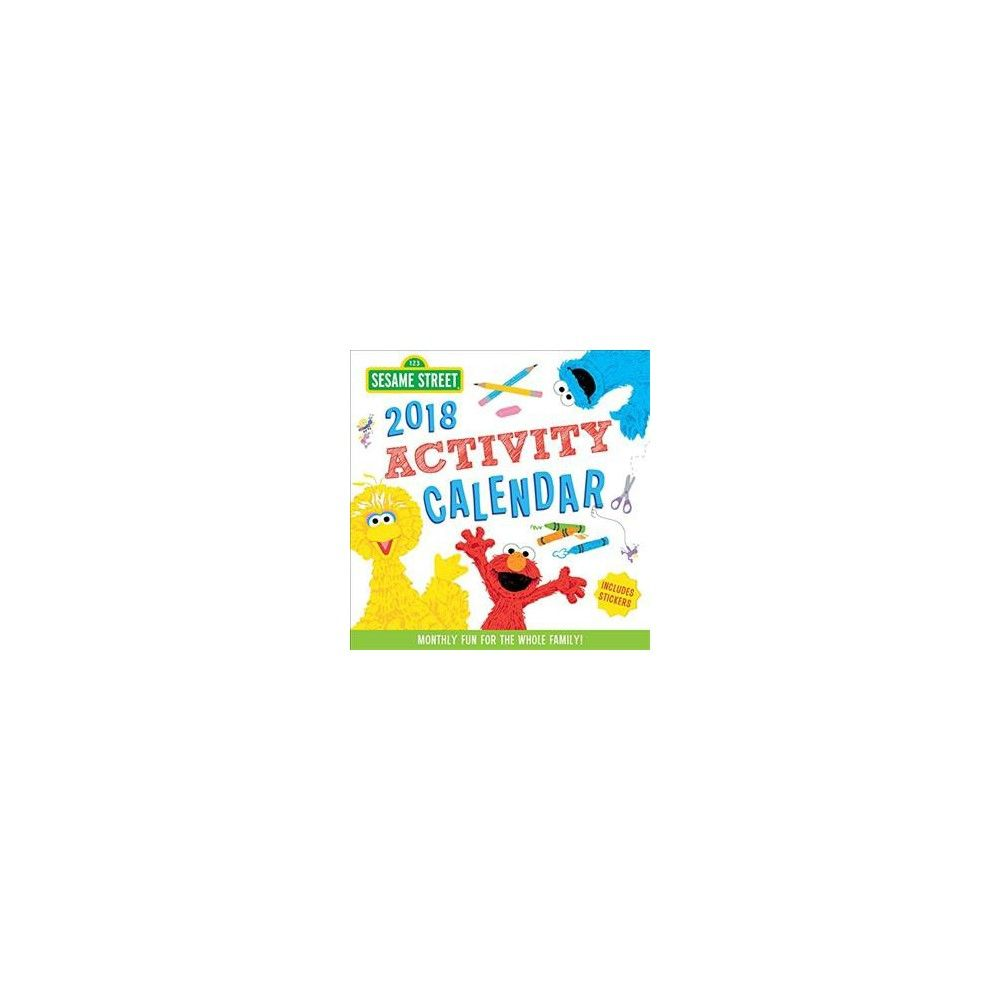 Kids Calendar With Activity Stickers : Sesame street kid s activity calendar monthly fun for the