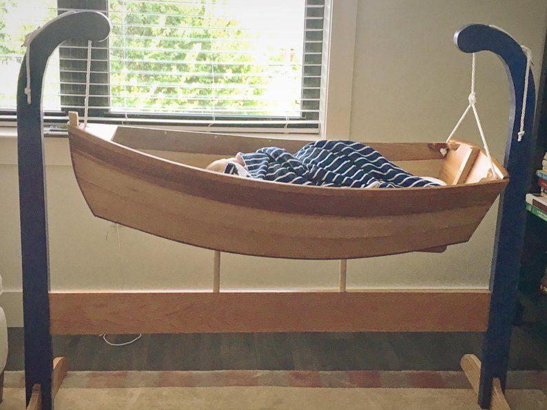 Baby Rowboat Crib | Wooden baby crib, New baby products, Cribs