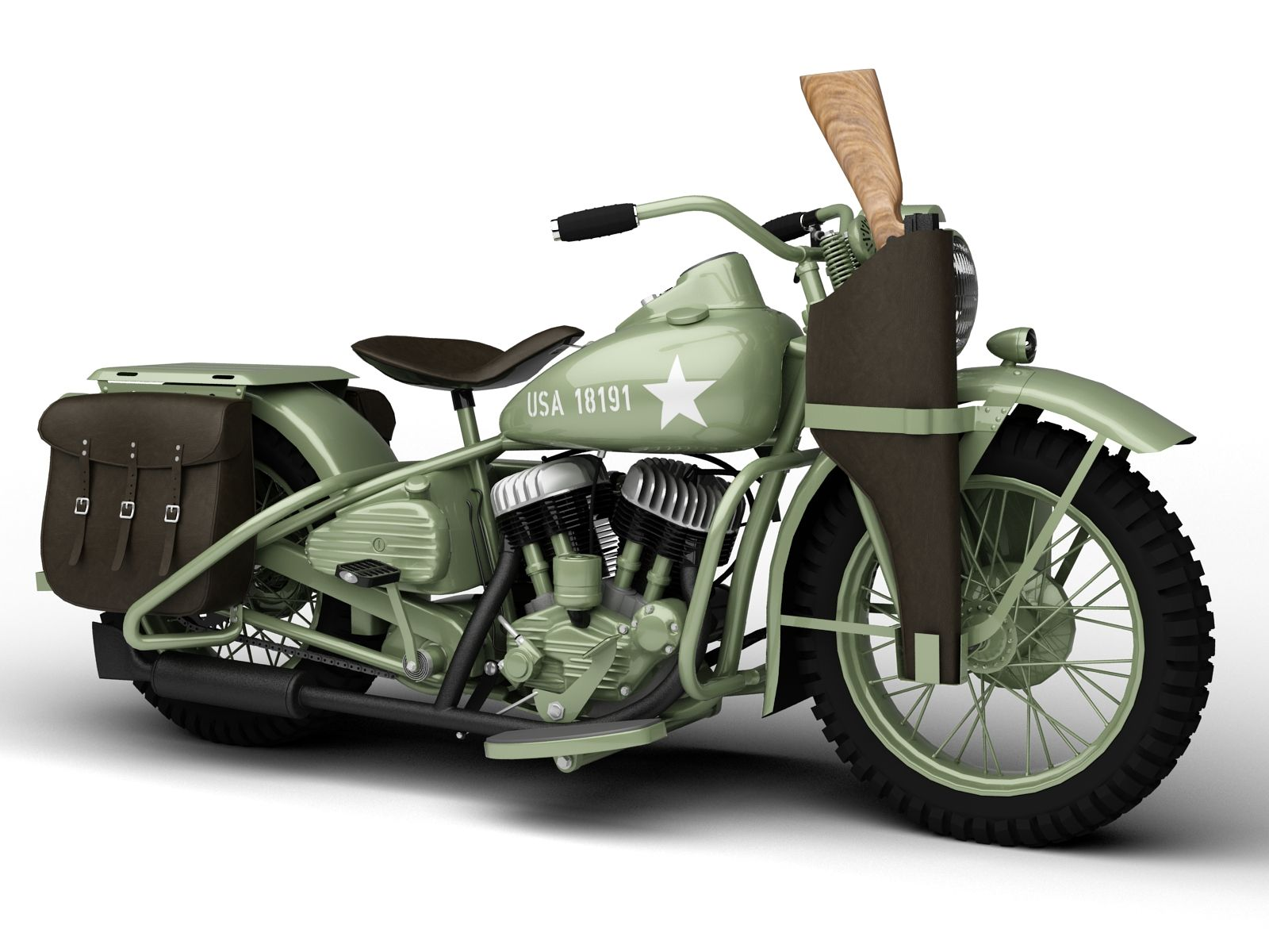 3D Model Motorbike 1942 WWII | fbx obj max 3ds c4d dxf - 3D