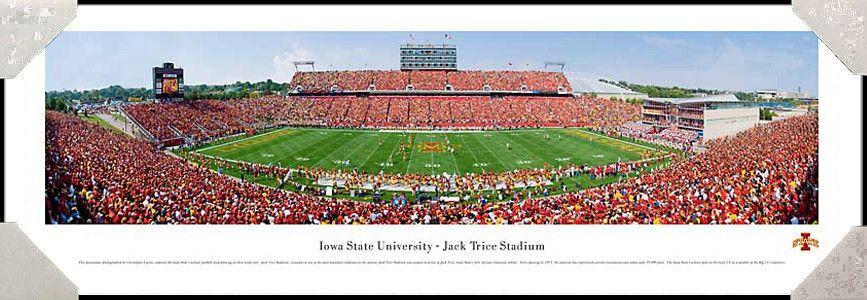 Iowa State University Cyclones Jack Trice Stadium Framed Panoramic