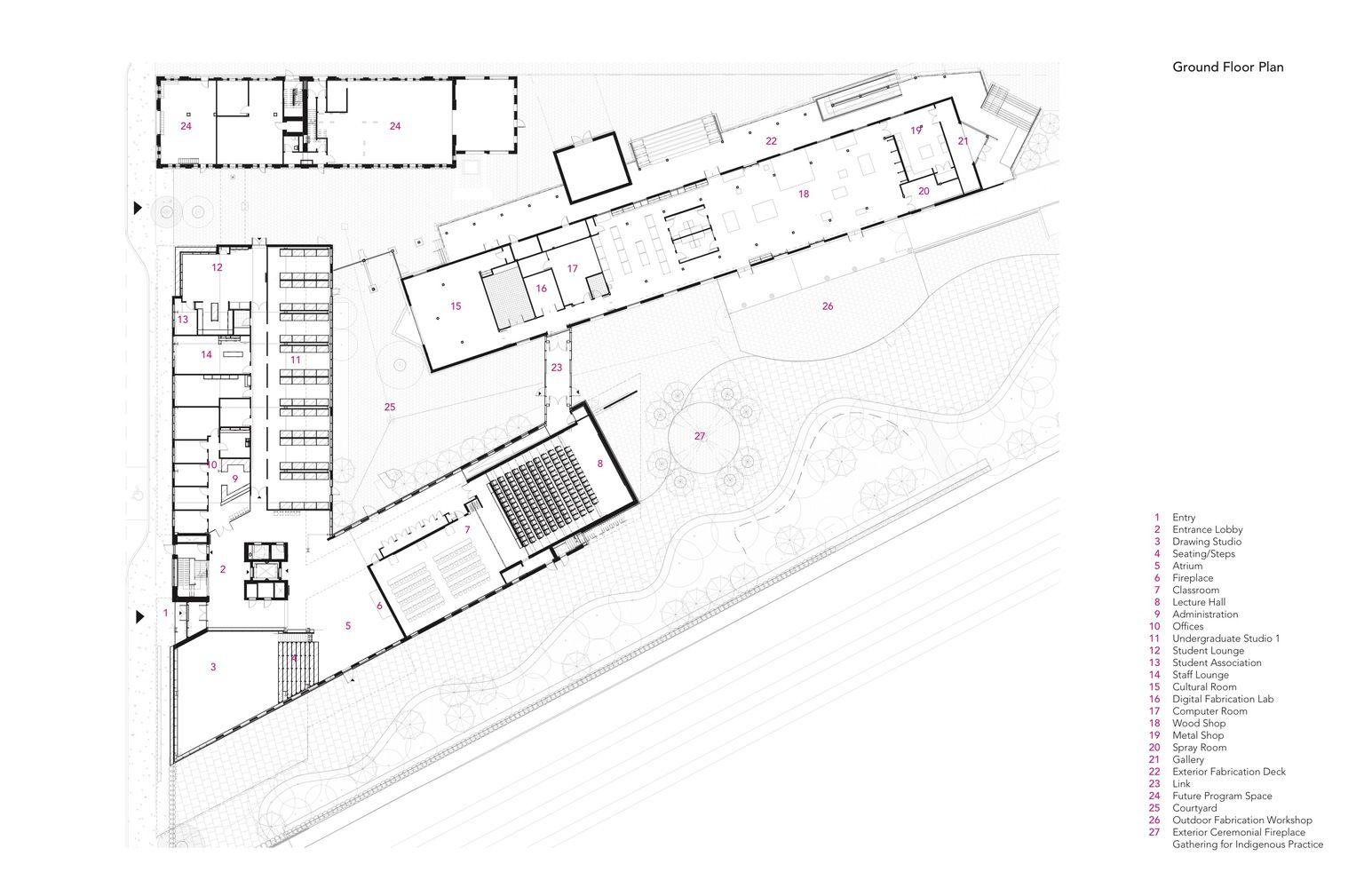 Gallery Of Mcewen School Of Architecture Lga Architectural Partners 25 School Architecture Ground Floor Plan Architecture