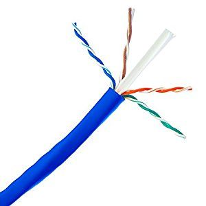 Skubros Plenum Bulk Cat6a Blue Ethernet Cable Solid Cmp Utp Unshielded Twisted Pair 500mhz 23 Awg Spool 1000 Foot Bulk C Twisted Pair Computer Accessories Cable