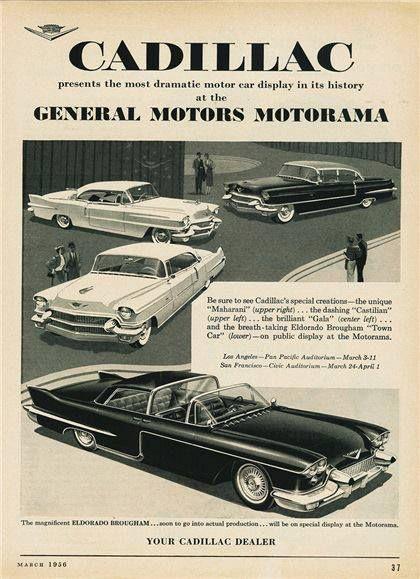 1956 Cadillacs At The GM Motorama Show