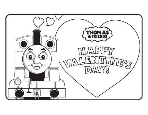 Activities For Kids Coloring Pages Puzzles Thomas Friends Friends Valentines Prek Valentines Activity Train Valentine