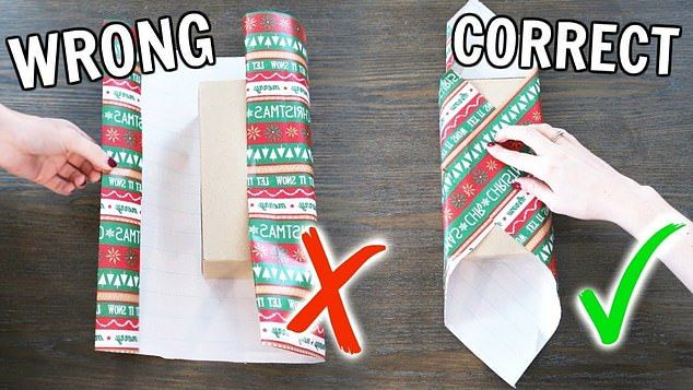 The diagonal wrapping method right promises to quickly and painlessly make wrapping easier  and it turns the conventional wrapping method left on its head