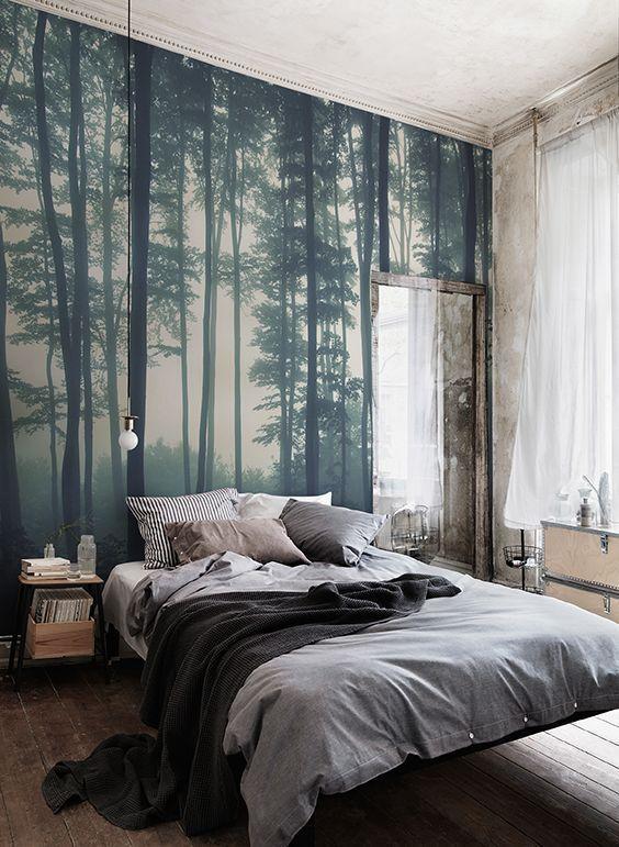Fototapete Fresko Wald der Bäume (mit Bildern) Tapete
