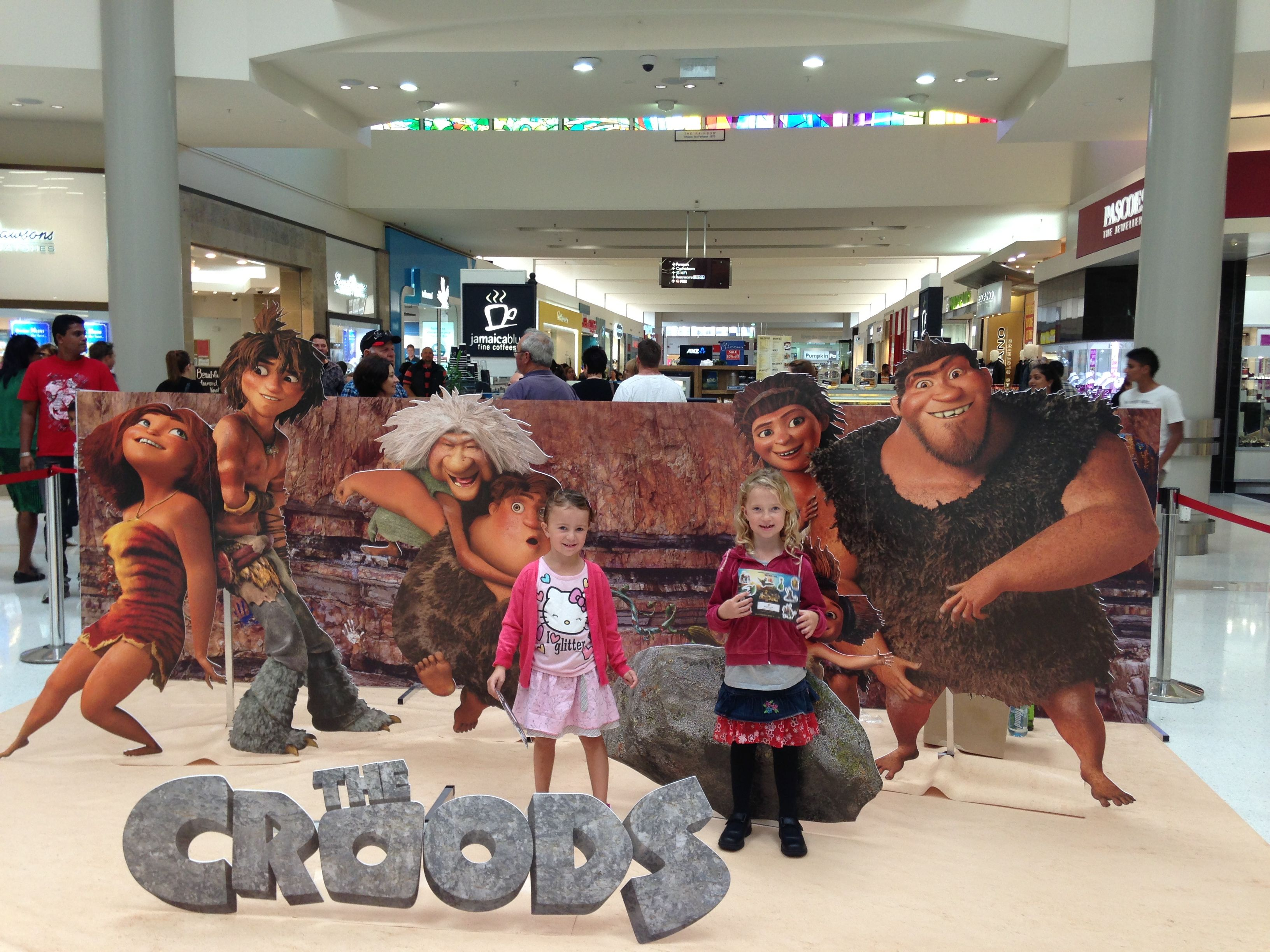 At the movies to watch the Croods with the kids