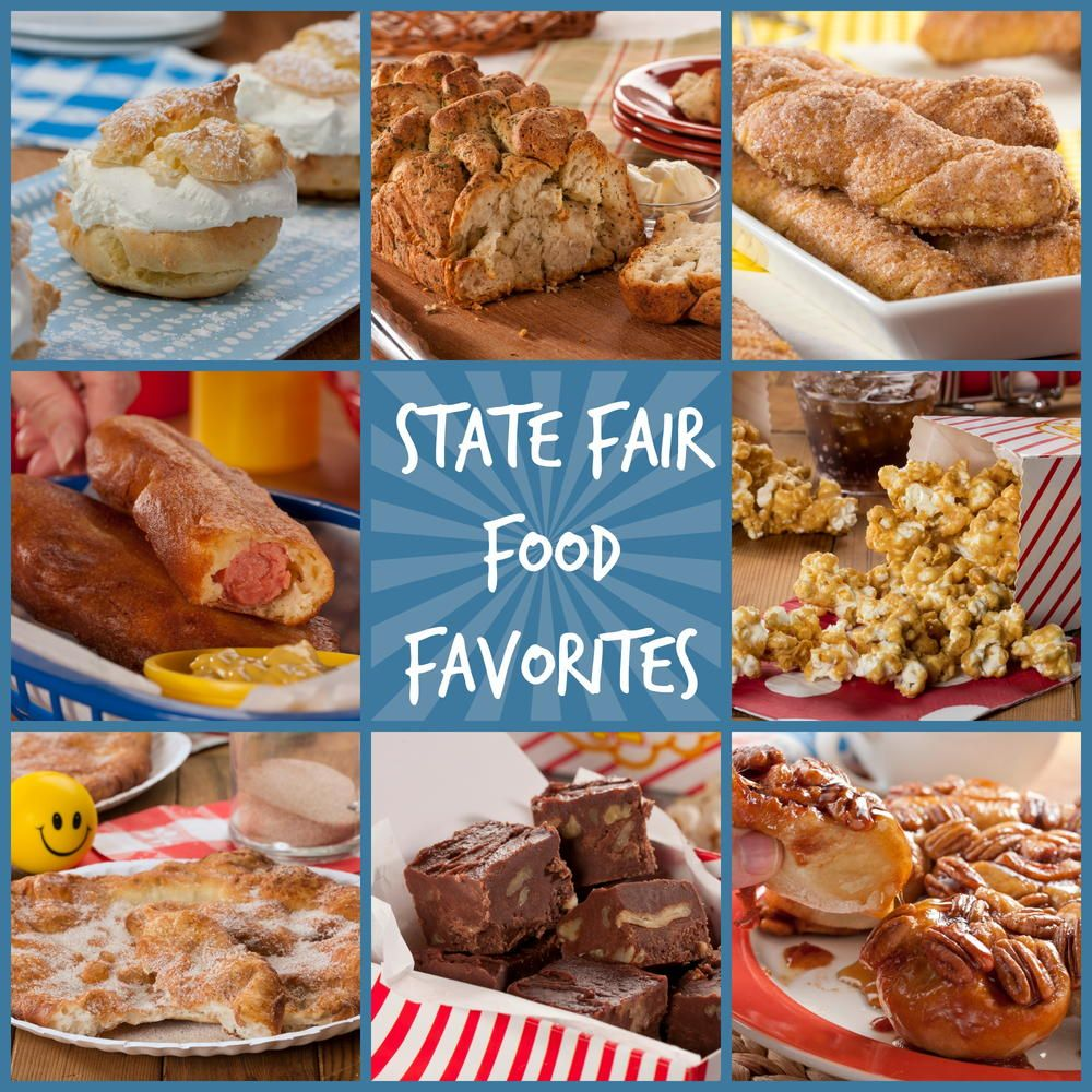 12 State Fair Food Favorites   Fair foods, Test kitchen and Food